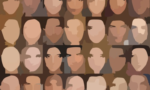 faces dataset, illustration